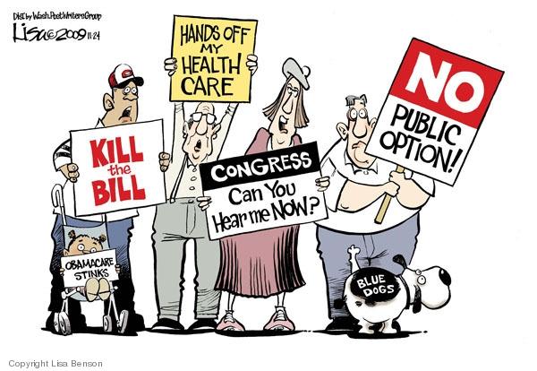 Cartoonist Lisa Benson  Lisa Benson's Editorial Cartoons 2009-11-24 congress health care
