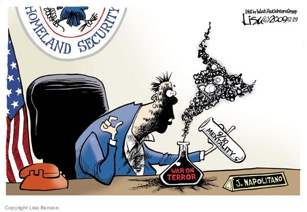 Lisa Benson  Lisa Benson's Editorial Cartoons 2009-12-29 Janet Napolitano