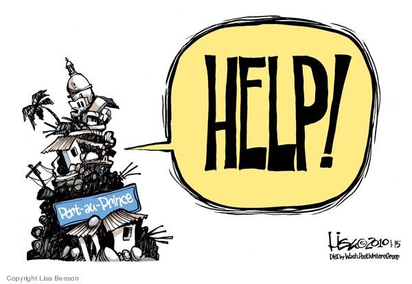 Cartoonist Lisa Benson  Lisa Benson's Editorial Cartoons 2010-01-15 destruction