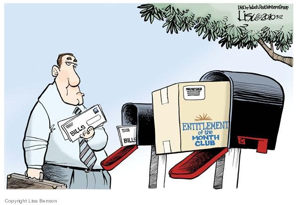 Cartoonist Lisa Benson  Lisa Benson's Editorial Cartoons 2010-03-13 entitlement