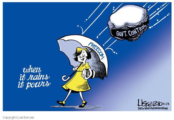 Cartoonist Lisa Benson  Lisa Benson's Editorial Cartoons 2010-04-23 oversight