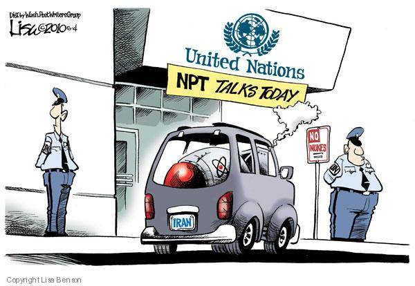 Cartoonist Lisa Benson  Lisa Benson's Editorial Cartoons 2010-05-04 nuclear proliferation