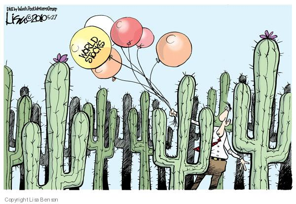 Lisa Benson  Lisa Benson's Editorial Cartoons 2010-05-27 stock market