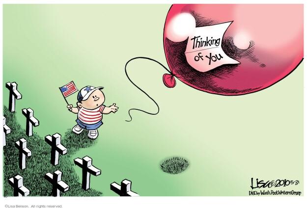 Cartoonist Lisa Benson  Lisa Benson's Editorial Cartoons 2010-05-31 Memorial Day