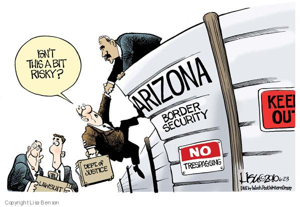 Cartoonist Lisa Benson  Lisa Benson's Editorial Cartoons 2010-06-23 security risk