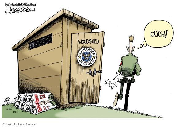 Cartoonist Lisa Benson  Lisa Benson's Editorial Cartoons 2010-06-24 military leadership