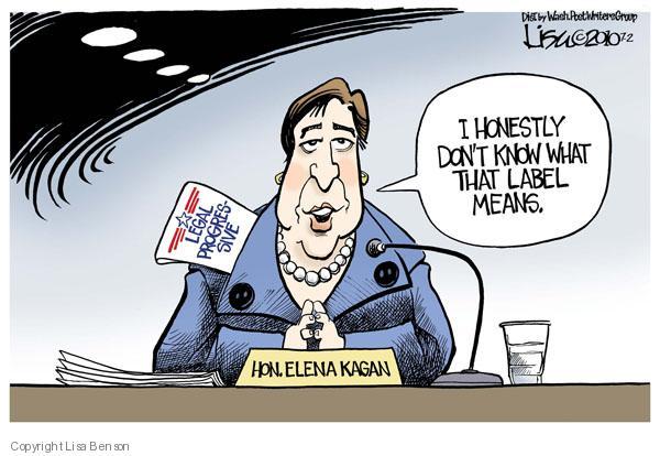 Cartoonist Lisa Benson  Lisa Benson's Editorial Cartoons 2010-07-02 supreme court nominee