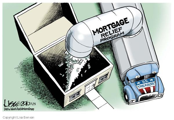 Lisa Benson  Lisa Benson's Editorial Cartoons 2010-07-23 mortgage
