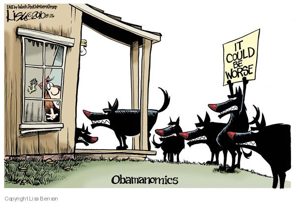 Cartoonist Lisa Benson  Lisa Benson's Editorial Cartoons 2010-08-26 economic downturn