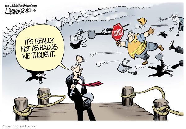 Cartoonist Lisa Benson  Lisa Benson's Editorial Cartoons 2010-09-06 economic downturn