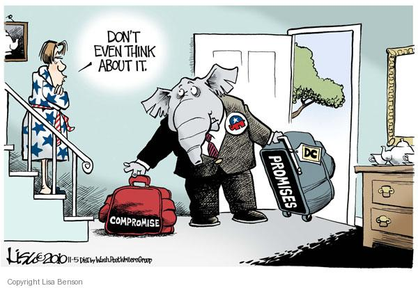 Lisa Benson  Lisa Benson's Editorial Cartoons 2010-11-05 bipartisan