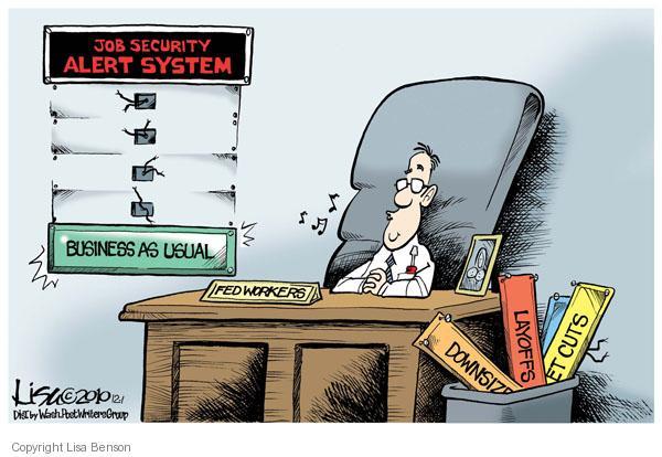 Cartoonist Lisa Benson  Lisa Benson's Editorial Cartoons 2010-12-01 security system