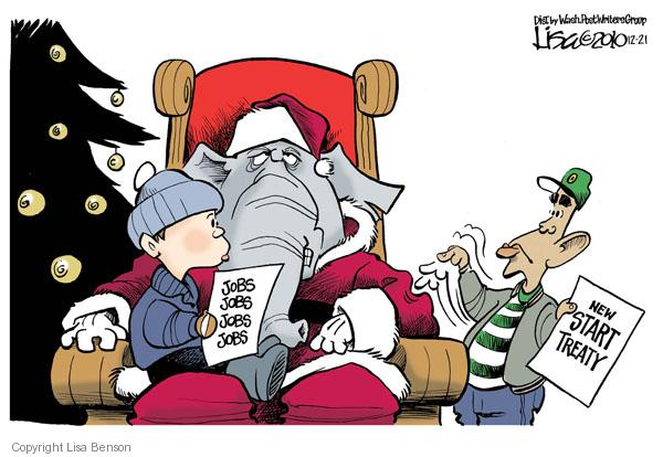 Cartoonist Lisa Benson  Lisa Benson's Editorial Cartoons 2010-12-21 Presidency