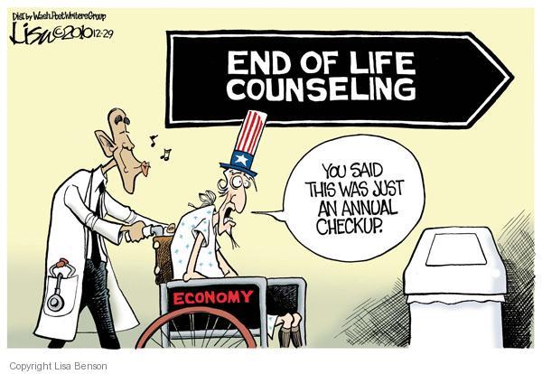 Cartoonist Lisa Benson  Lisa Benson's Editorial Cartoons 2010-12-29 economic downturn