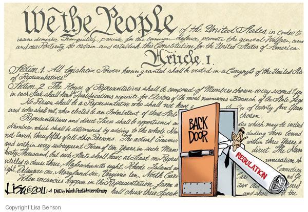 Cartoonist Lisa Benson  Lisa Benson's Editorial Cartoons 2011-01-04 Constitution