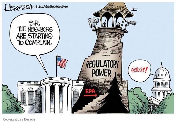 Cartoonist Lisa Benson  Lisa Benson's Editorial Cartoons 2011-02-03 Environmental Protection Agency