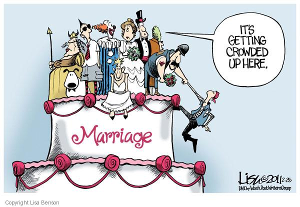 Cartoonist Lisa Benson  Lisa Benson's Editorial Cartoons 2011-02-28 marriage