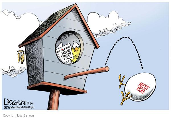 Home Prices Fall.  Nest egg.