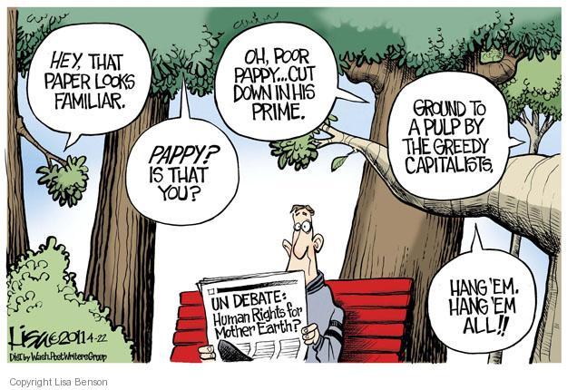 Cartoonist Lisa Benson  Lisa Benson's Editorial Cartoons 2011-04-22 environmental protection