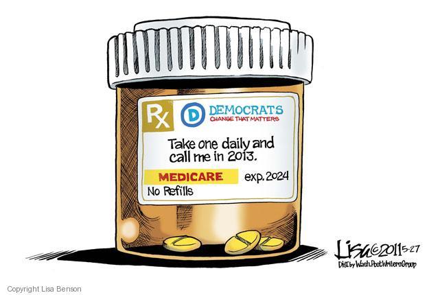 Lisa Benson  Lisa Benson's Editorial Cartoons 2011-05-27 health care reform