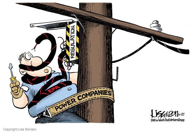 Cartoonist Lisa Benson  Lisa Benson's Editorial Cartoons 2011-06-22 Environmental Protection Agency