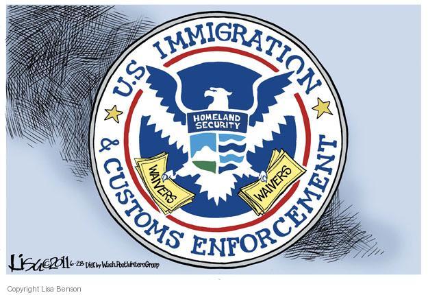 Cartoonist Lisa Benson  Lisa Benson's Editorial Cartoons 2011-06-28 Department of Homeland Security