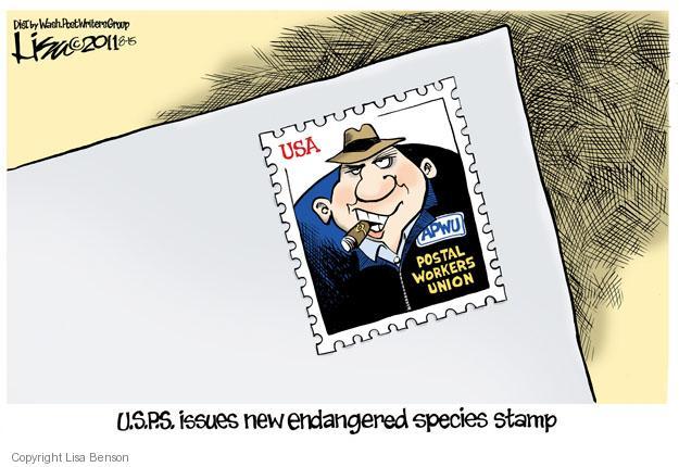 Lisa Benson  Lisa Benson's Editorial Cartoons 2011-08-15 mailman