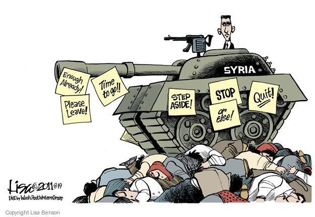 Lisa Benson  Lisa Benson's Editorial Cartoons 2011-08-19 Middle East