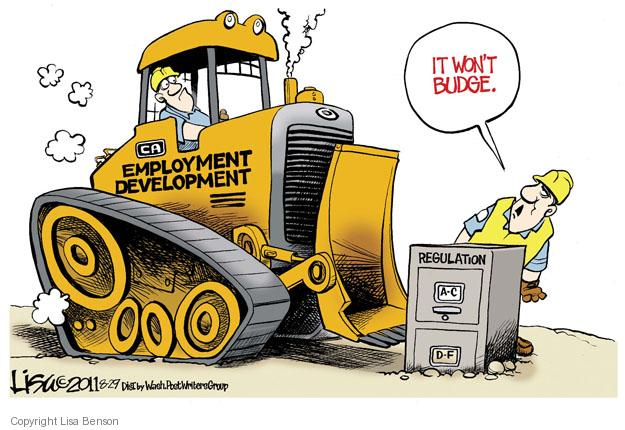 Cartoonist Lisa Benson  Lisa Benson's Editorial Cartoons 2011-08-29 construction