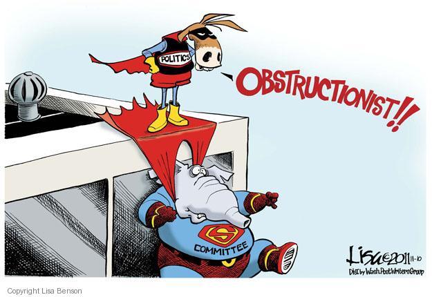 Cartoonist Lisa Benson  Lisa Benson's Editorial Cartoons 2011-11-10 partisan politics