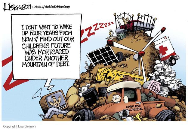Lisa Benson  Lisa Benson's Editorial Cartoons 2011-11-21 mortgage