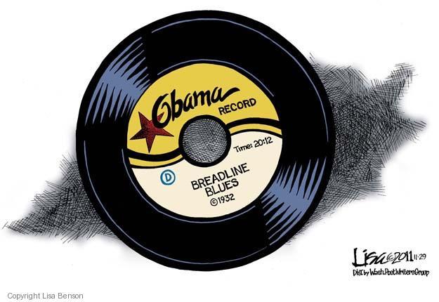 Lisa Benson  Lisa Benson's Editorial Cartoons 2011-11-29 2012 election economy
