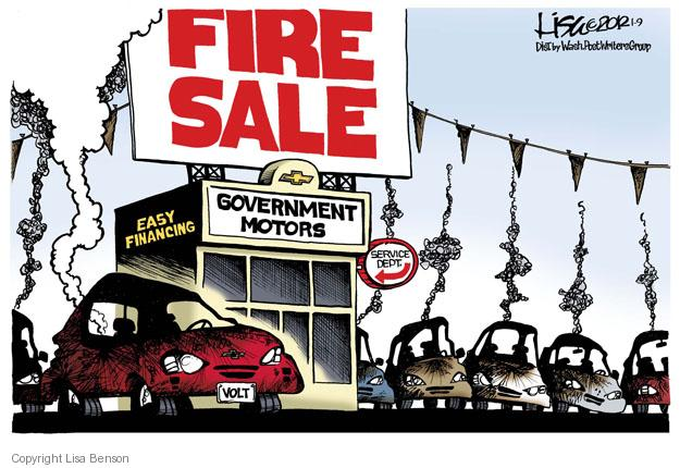 Lisa Benson  Lisa Benson's Editorial Cartoons 2012-01-09 automobile
