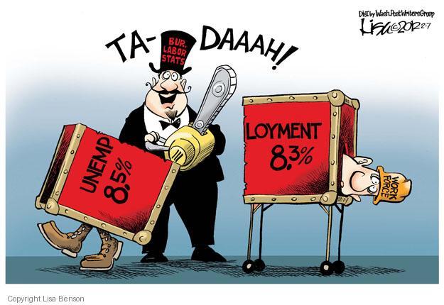 Cartoonist Lisa Benson  Lisa Benson's Editorial Cartoons 2012-02-07 unemployment