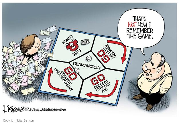 Cartoonist Lisa Benson  Lisa Benson's Editorial Cartoons 2012-02-24 unemployment