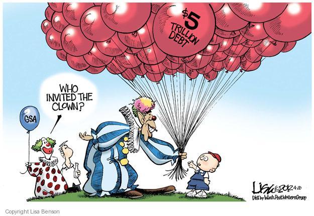 Cartoonist Lisa Benson  Lisa Benson's Editorial Cartoons 2012-04-20 clown