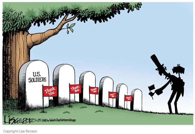 Cartoonist Lisa Benson  Lisa Benson's Editorial Cartoons 2012-05-25 Memorial Day