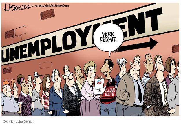 Cartoonist Lisa Benson  Lisa Benson's Editorial Cartoons 2012-06-19 unemployment