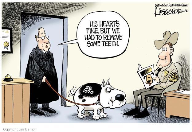 Lisa Benson  Lisa Benson's Editorial Cartoons 2012-06-26 Arizona immigration