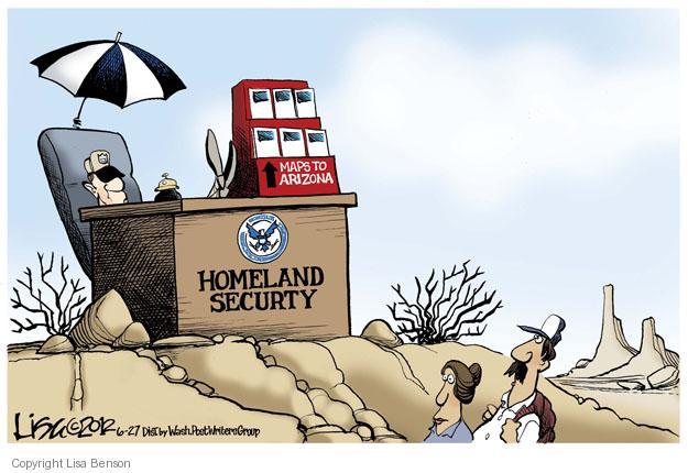 Lisa Benson  Lisa Benson's Editorial Cartoons 2012-06-27 Arizona immigration
