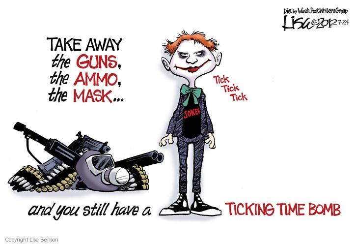 Cartoonist Lisa Benson  Lisa Benson's Editorial Cartoons 2012-07-24 violent