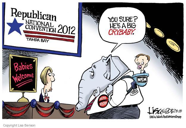 Cartoonist Lisa Benson  Lisa Benson's Editorial Cartoons 2012-08-28 election journalism