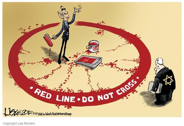 Red line. Do not cross.