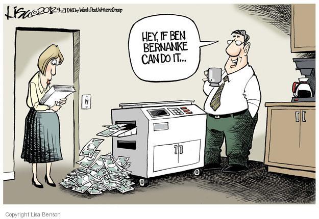 Lisa Benson  Lisa Benson's Editorial Cartoons 2012-09-21 Federal Reserve Bank