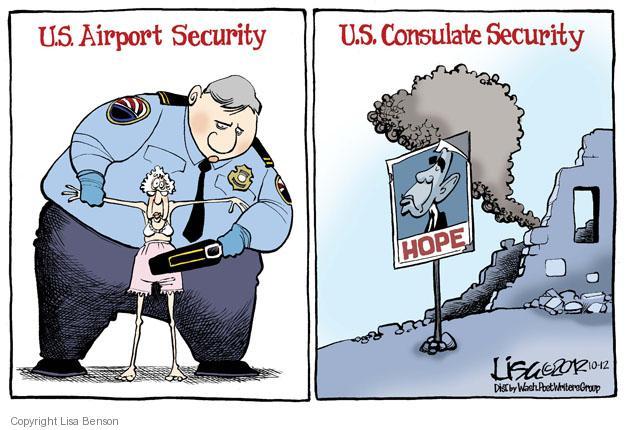Cartoonist Lisa Benson  Lisa Benson's Editorial Cartoons 2012-10-12 airport security