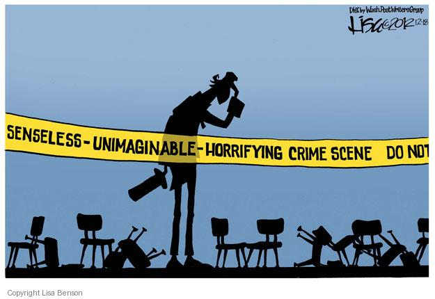 Cartoonist Lisa Benson  Lisa Benson's Editorial Cartoons 2012-12-18 crime