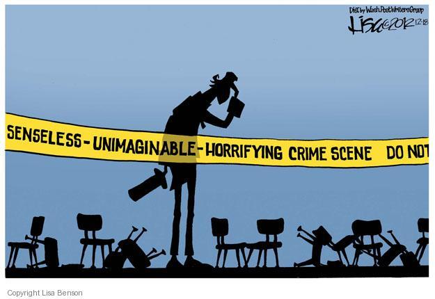 Cartoonist Lisa Benson  Lisa Benson's Editorial Cartoons 2012-12-18 school shooting