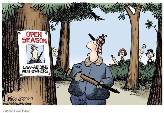 Lisa Benson  Lisa Benson's Editorial Cartoons 2012-12-28 gun control