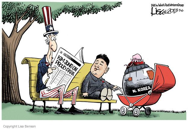 Kim Jong Un Proud Papa. N. Korea.