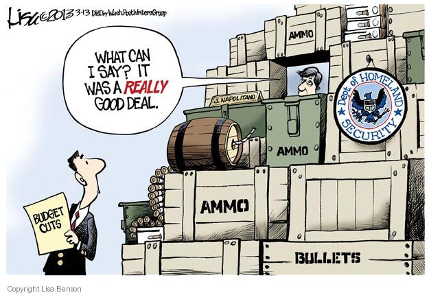 Cartoonist Lisa Benson  Lisa Benson's Editorial Cartoons 2013-03-13 Department of Homeland Security